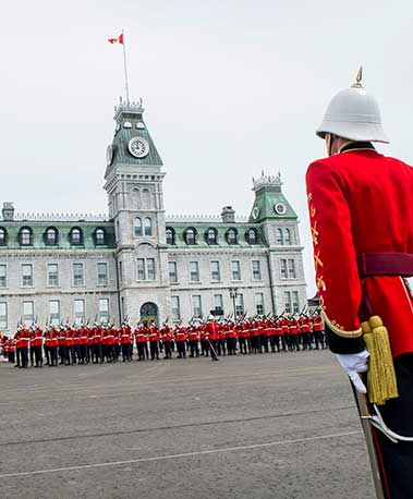 A parade at the Royal Military College of Canada (RMC)